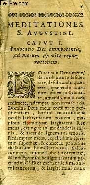 MEDITATIONES S. AUGUSTINI
