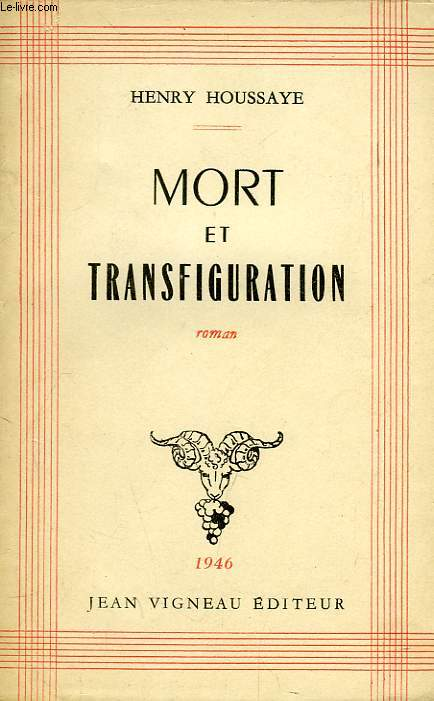 MORT ET TRANSFIGURATION