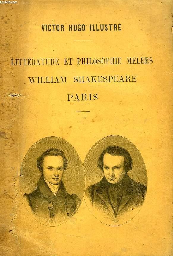 LITTERATURE ET PHILOSOPHIE MELEES, WILLIAM SHAKESPEARE, PARIS