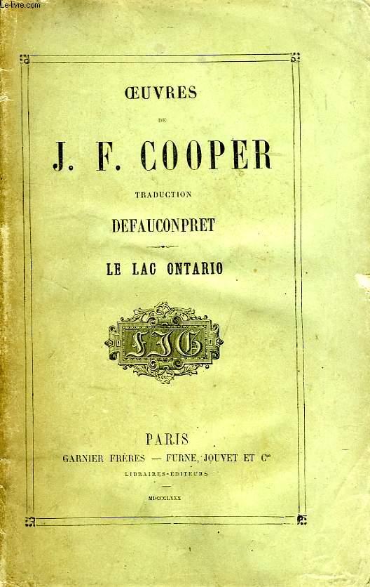 OEUVRES DE J. F. COOPER, LE LAC ONTARIO