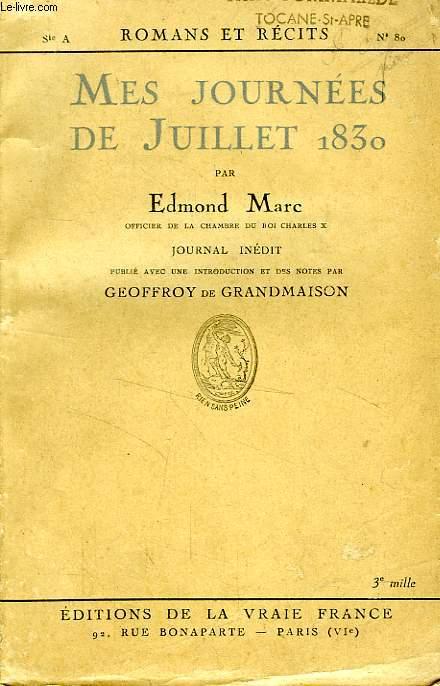 MES JOURNEES DE JUILLET 1830