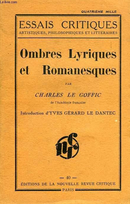 OMBRES LYRIQUES ET ROMANESQUES
