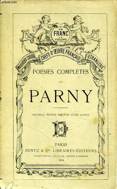 POESIES COMPLETES DE PARNY