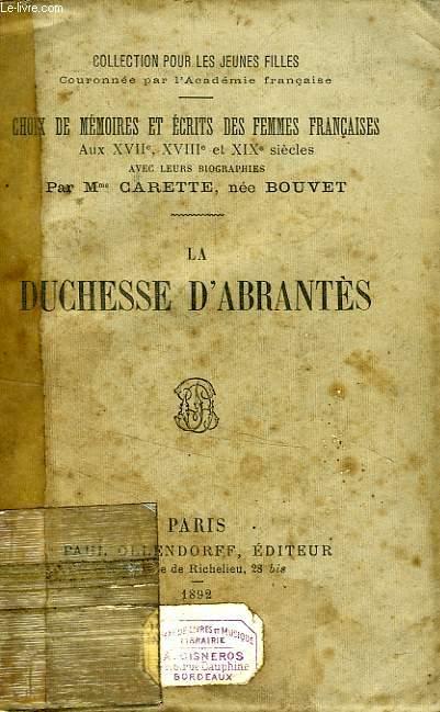 MADAME D'ABRANTES