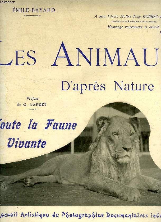 LES ANIMAUX D'APRES NATURE, 1re ANNEE, 1re LIVRAISON, OCT. 1905, TOUTE LA FAUNE VIVANTE