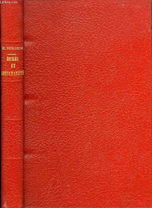 DUREE ET SIMULTANEITE, A PROPOS DE LA THEORIE D'EINSTEIN