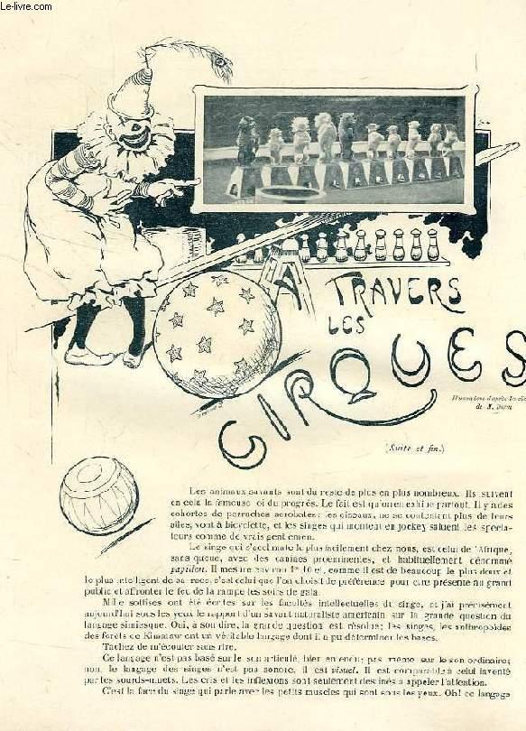 REVUE DE PARIS (EXTRAIT), A TRAVERS LES CIRQUES (SUITE& FIN)