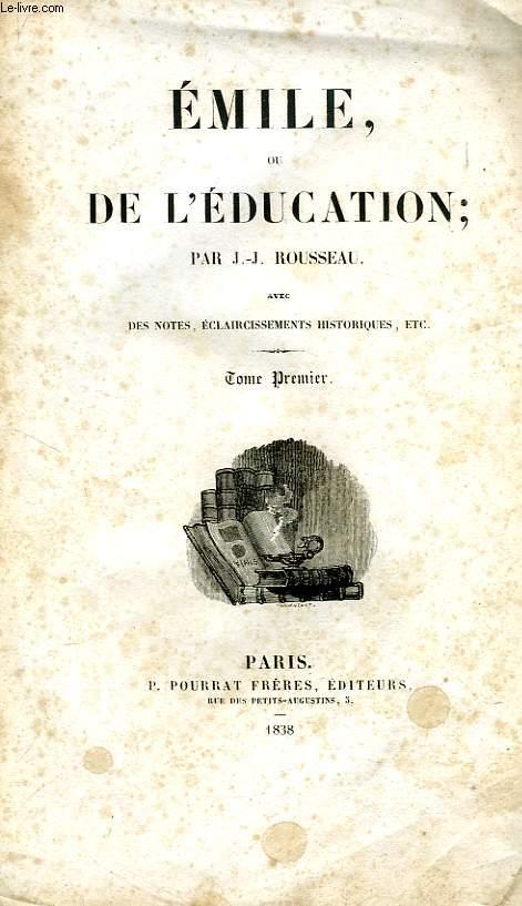 EMILE, OU DE L'EDUCATION, 2 TOMES