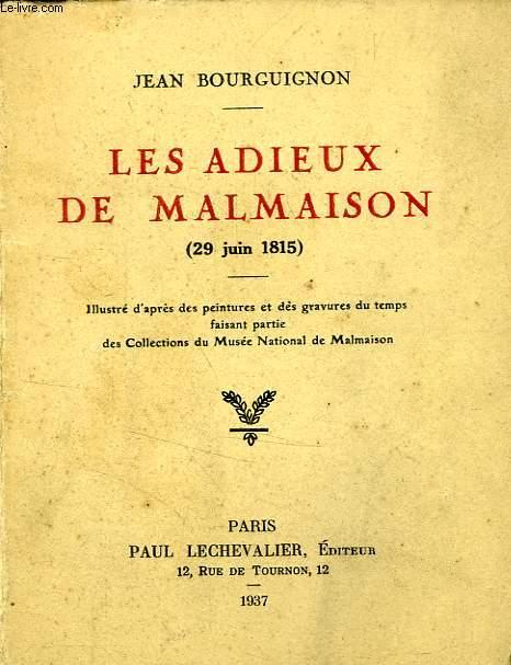 LES ADIEUX DE MALMAISON (29 JUIN 1815)