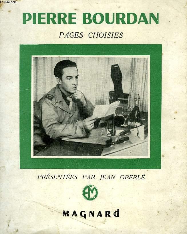 PAGES CHOISIES DE PIERRE BOURDAN