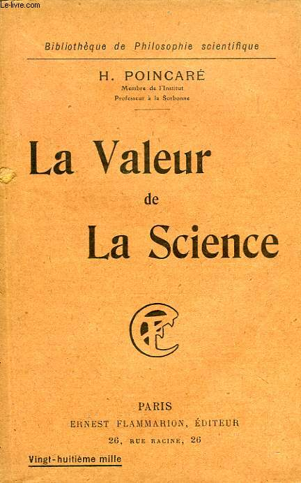 LA VALEUR DE LA SCIENCE