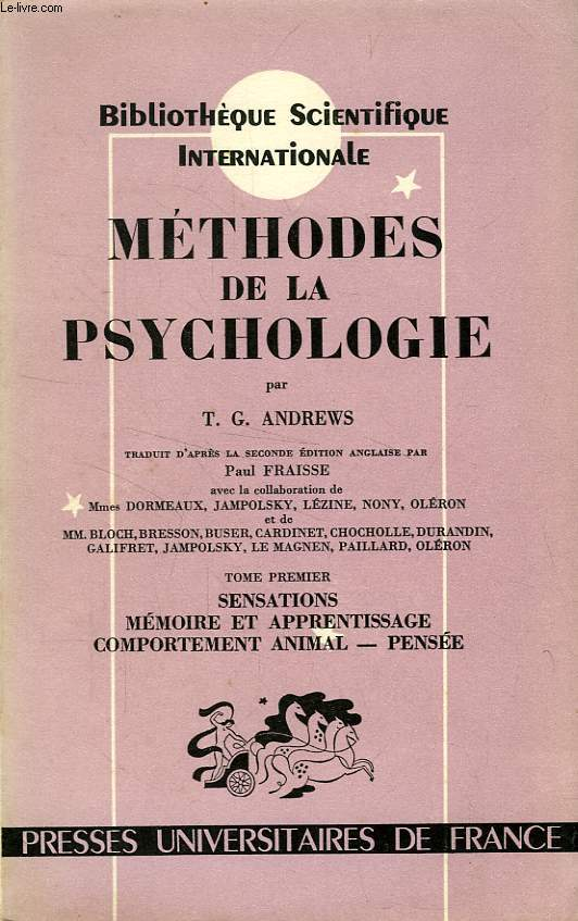 METHODES DE LA PSYCHOLOGIE, 2 TOMES