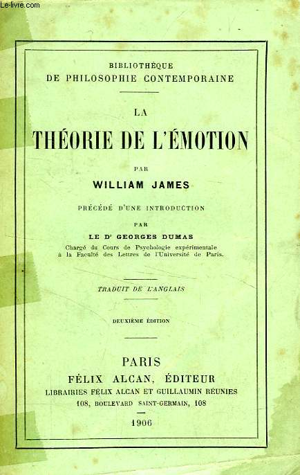LA THEORIE DE L'EMOTION