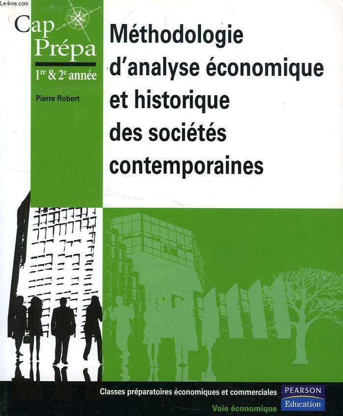 METHODOLOGIE D'ANALYSE ECONOMIQUE ET HISTORIQUE DES SOCIETES CONTEMPORAINES, CAP, PREPA, 1re & 2e ANNEE