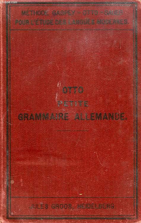 PETITE GRAMMAIRE ALLEMANDE