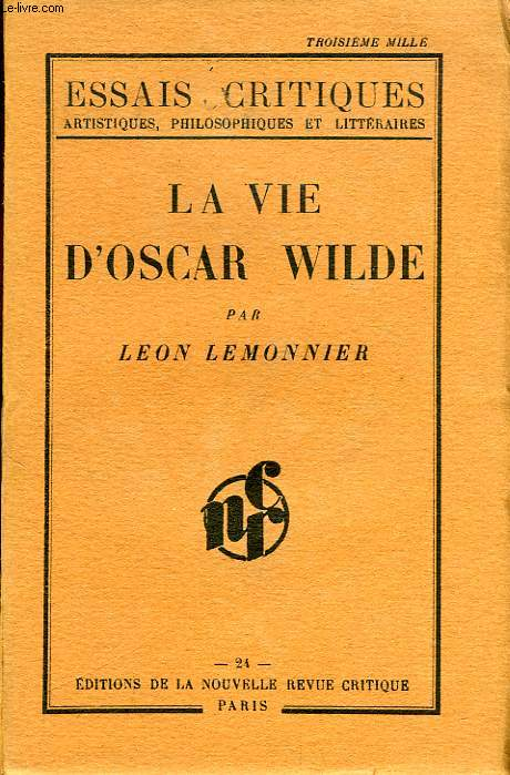 LA VIE D'OSCAR WILDE