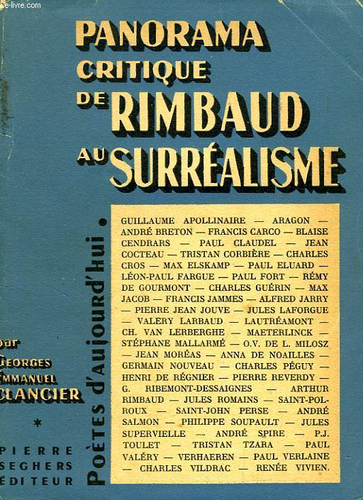 DE RIMBAUD AU SURREALISME, PANORAMA CRITIQUE
