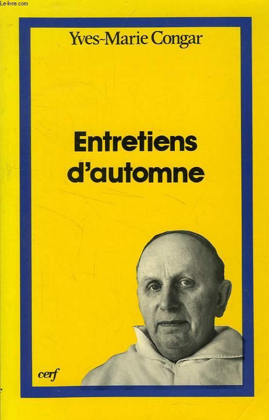 ENTRETIENS D'AUTOMNE