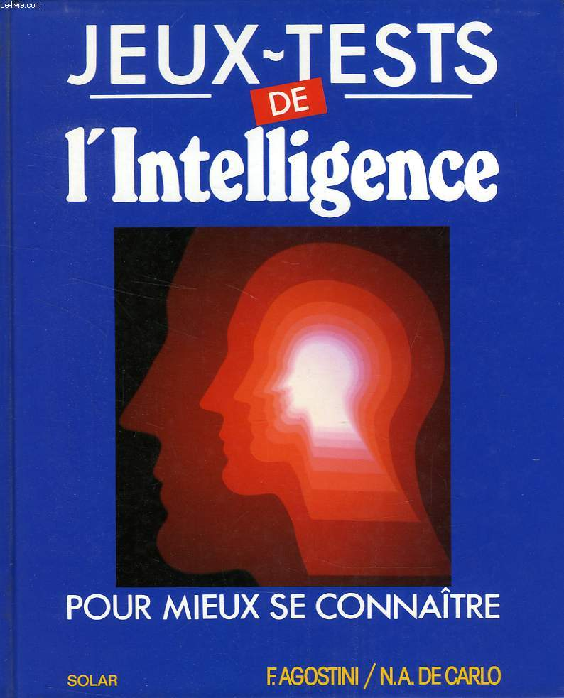 JEUX-TESTS DE L'INTELLIGENCE