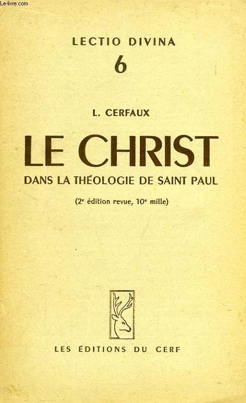 LE CHRIST DANS LA THEOLOGIE DE SAINT PAUL