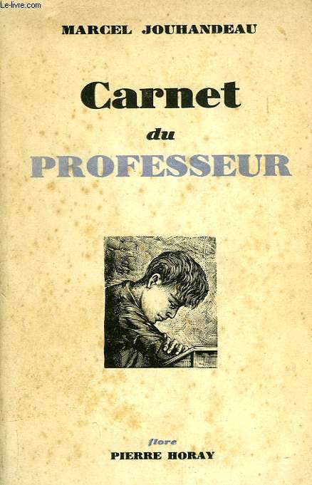 CARNET DU PROFESSEUR