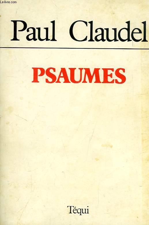 PSAUMES, TRADUCTIONS 1918-1959
