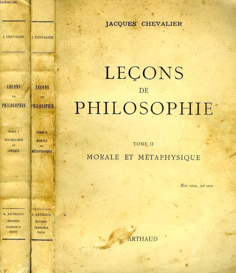 LECONS DE PHILOSOPHIE, 2 TOMES