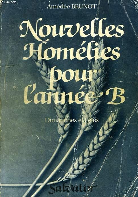 NOUVELLES HOMELIES POUR L'ANNEE B, DIMANCHES ET JOURS DE FETE, SCRUTEZ LES ECRITURES
