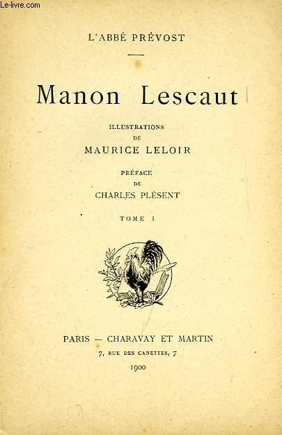 MANON LESCAUT, 2 TOMES
