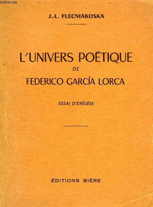 L'UNIVERS POETIQUE DE FEDERICO GARCIA LORCA