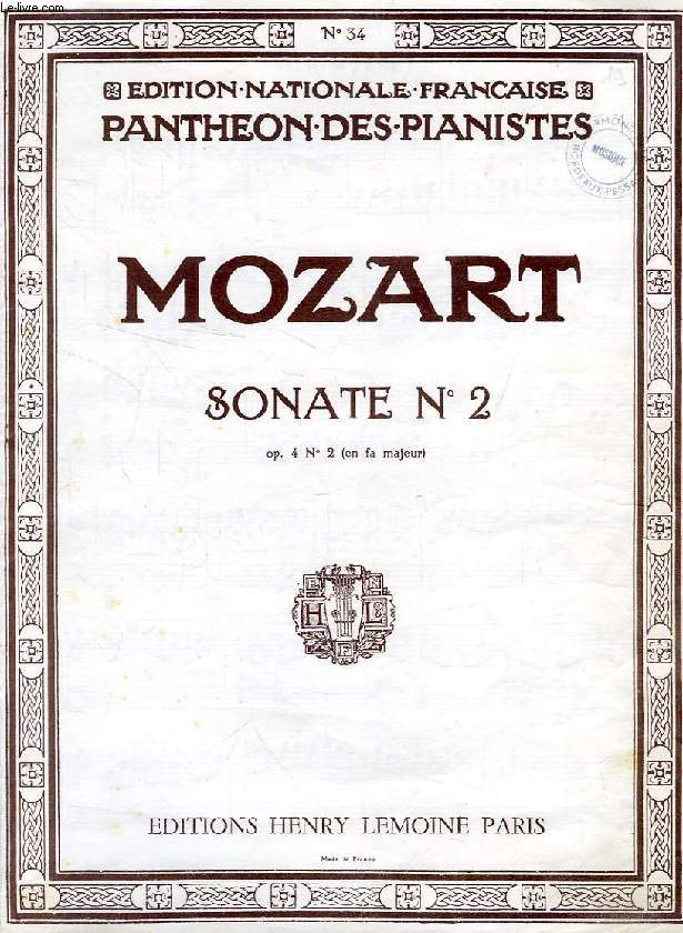SONATE N° 2, OP. 4 N° 2 (EN FA MAJEUR) (PARTITIONS)