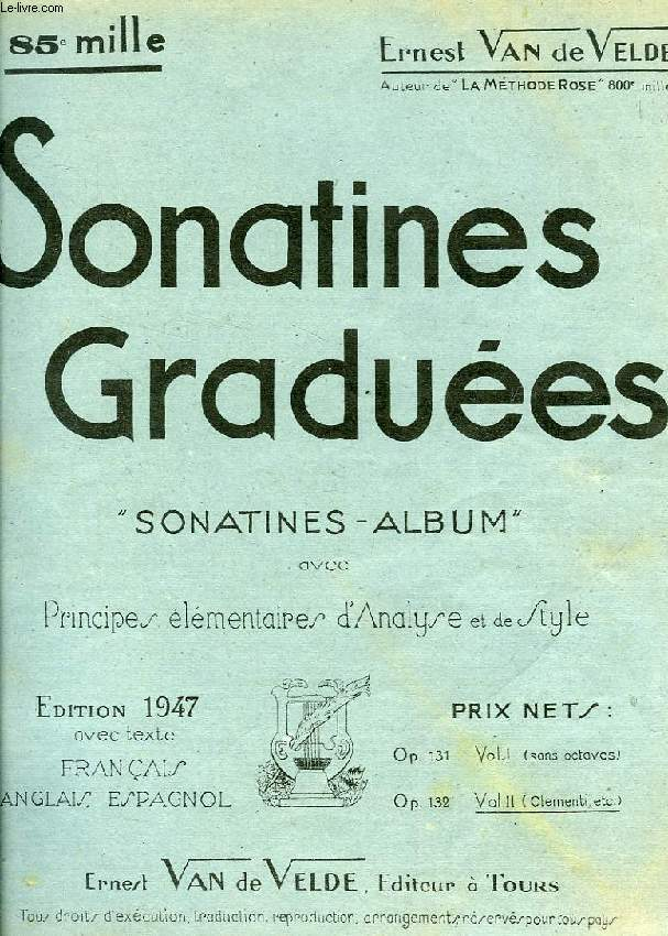 SONATINES GRADUEES (PARTITIONS)