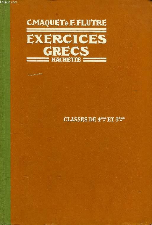 EXERCICES GRECS, CLASSES DE 4e ET DE 3e