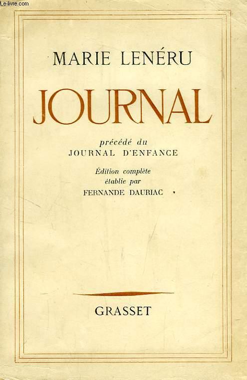 JOURNAL, PRECEDE DU JOURNAL D'ENFANCE