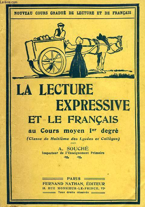 LA LECTURE EXPRESSIVE ET LE FRANCAIS AU COURS MOYEN 1er DEGRE (CLASSES DE 8e ET DE 7e)