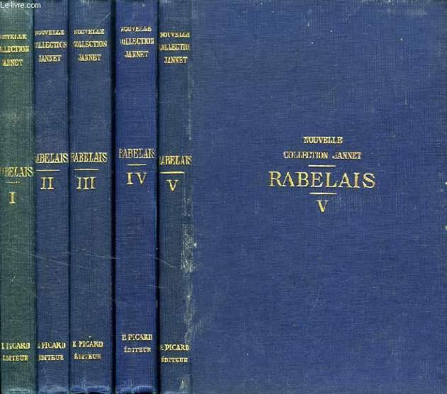 OEUVRES DE RABELAIS, 5 TOMES