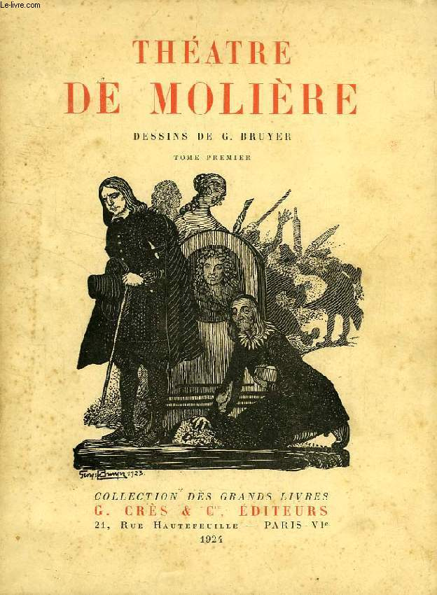 OEUVRES DE MOLIERE, 2 TOMES