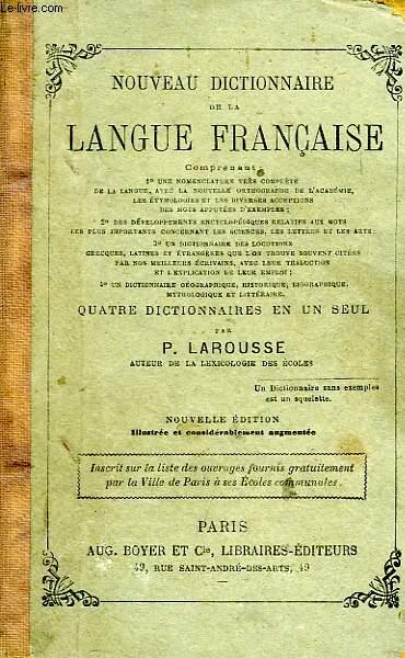 NOUVEAU DICTIONNAIRE DE LA LANGUE FRANCAISE