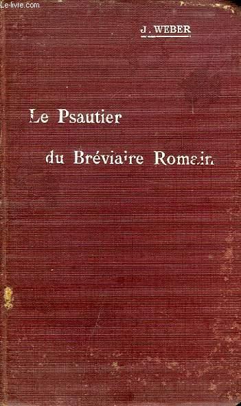 LE PSAUTIER DU BREVIAIRE ROMAIN