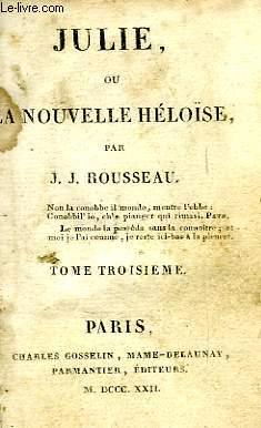 JULIE, OU LA NOUVELLE HELOISE, TOME III