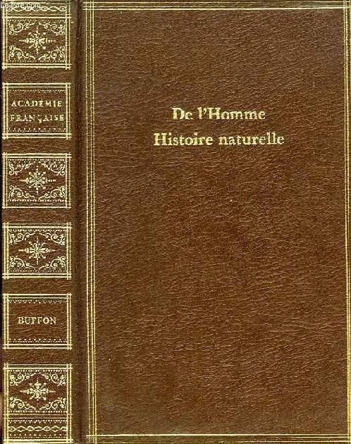 DE L'HOMME, HISTOIRE NATURELLE