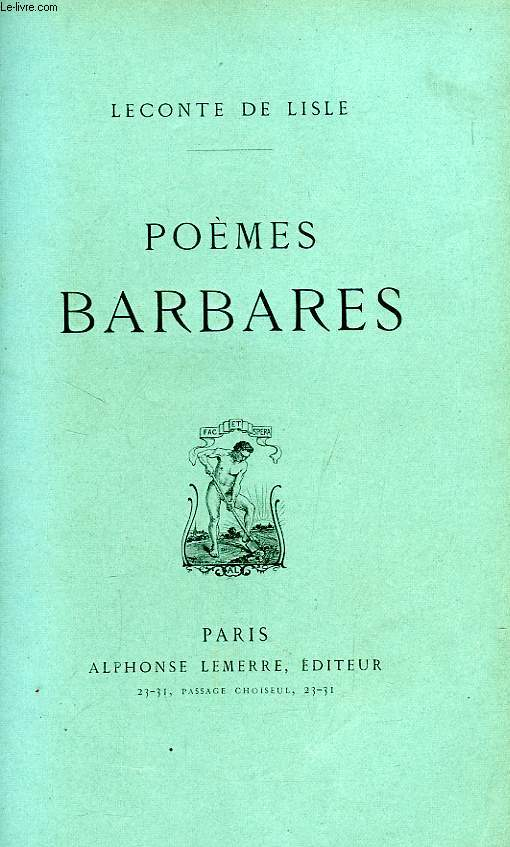 POEMES BARBARES