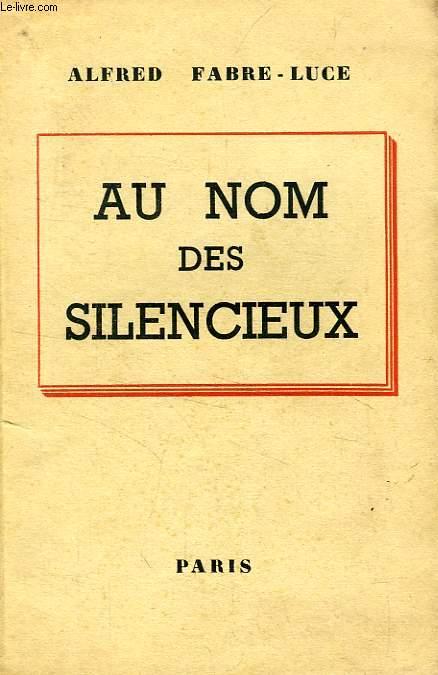AU NOM DES SILENCIEUX