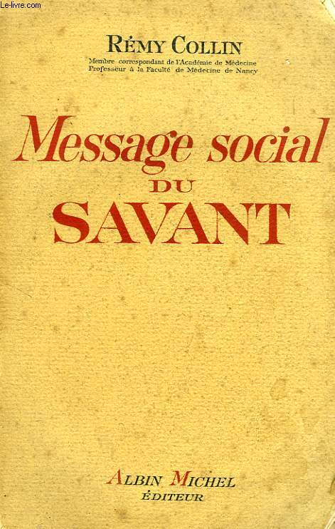 MESSAGE SOCIAL DU SAVANT