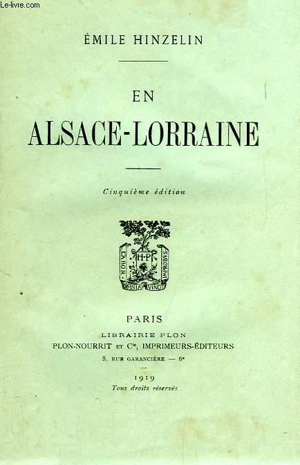 EN ALSACE-LORRAINE