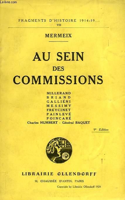 AU SEIN DES COMMISSIONS