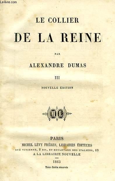 LE COLLIER DE LA REINE, TOME III