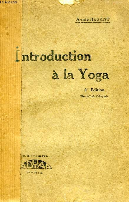 INTRODUCTION A LA YOGA