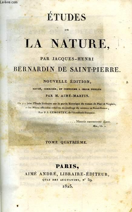 ETUDES DE LA NATURE, TOME IV
