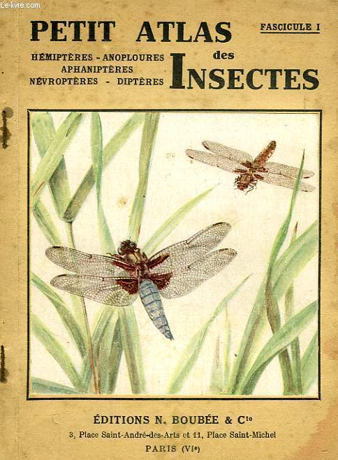 PETIT ATLAS DES INSECTES, FASC. I, HEMIPTERES, ANOPLOURES, APHANIPTERES, NEVROPTERES, DIPTERES
